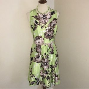 🌷NWOT Julian Taylor- Lime green dress